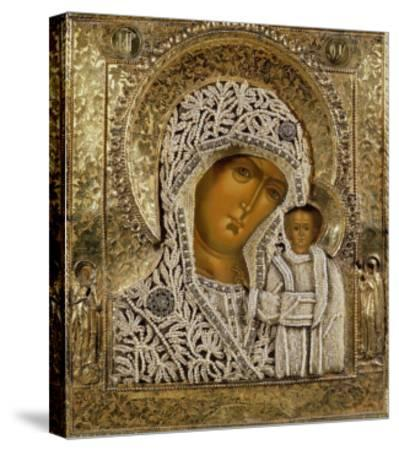 Detail of an Icon Showing the Virgin of Kazan by Yegor Petrov, Moscow, 1788--Stretched Canvas Print