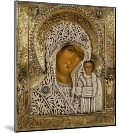 Detail of an Icon Showing the Virgin of Kazan by Yegor Petrov, Moscow, 1788--Mounted Giclee Print