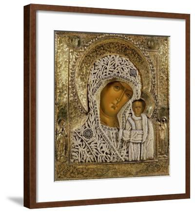Detail of an Icon Showing the Virgin of Kazan by Yegor Petrov, Moscow, 1788--Framed Giclee Print