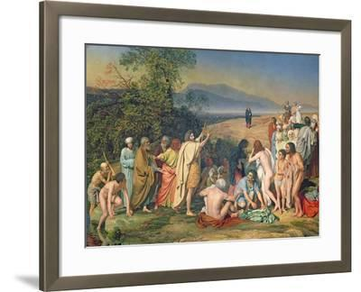 The Appearance of Christ to the People-Aleksandr Andreevich Ivanov-Framed Giclee Print