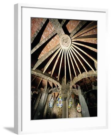 Ceiling of the Guell Crypt, 1908-15-Antoni Gaud?-Framed Giclee Print