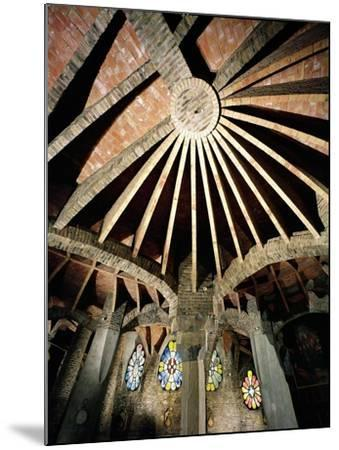 Ceiling of the Guell Crypt, 1908-15-Antoni Gaud?-Mounted Giclee Print