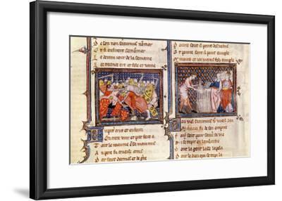 Jupiter Versus Saturn: Saturn Teaching the Lombards, Ovide Moralise Written Legouais--Framed Giclee Print