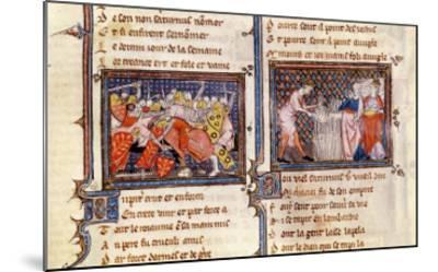 Jupiter Versus Saturn: Saturn Teaching the Lombards, Ovide Moralise Written Legouais--Mounted Giclee Print