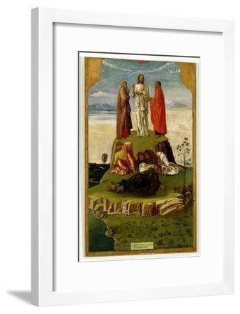 Transfiguration of Christ on Mount Tabor, 1455-60-Giovanni Bellini-Framed Giclee Print