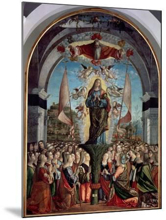 Glorification of St. Ursula and Her Companions-Vittore Carpaccio-Mounted Giclee Print