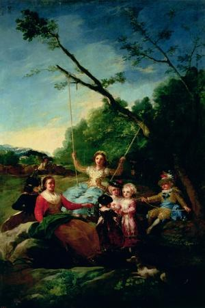 The Swing-Francisco de Goya-Stretched Canvas Print