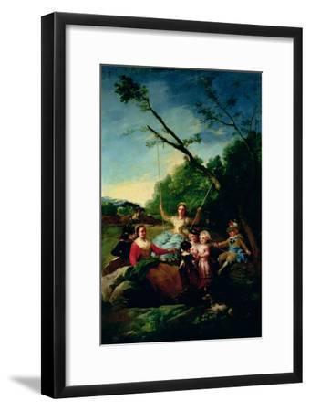 The Swing-Francisco de Goya-Framed Giclee Print