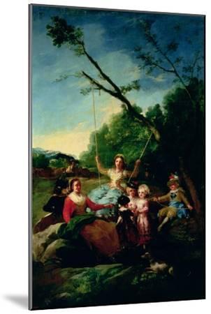 The Swing-Francisco de Goya-Mounted Giclee Print
