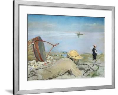 Henri Guerard Relaxing on the Beach-Eva Gonzales-Framed Giclee Print