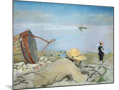 Henri Guerard Relaxing on the Beach-Eva Gonzales-Mounted Giclee Print