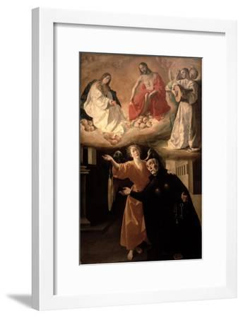 The Vision of St. Alphonsus Rodriguez-Francisco de Zurbar?n-Framed Giclee Print