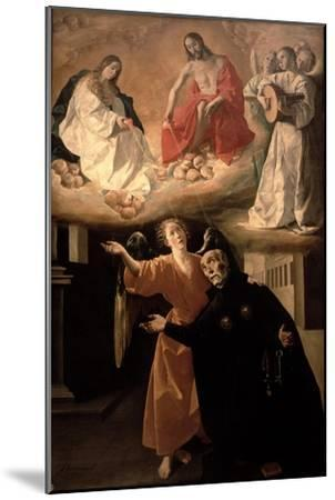 The Vision of St. Alphonsus Rodriguez-Francisco de Zurbar?n-Mounted Giclee Print