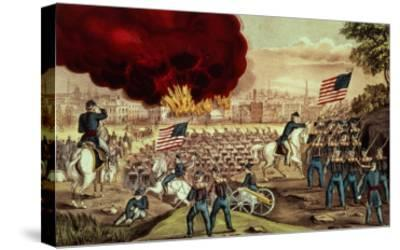 The Capture of Atlanta by the Union Army, 2nd September, 1864-Currier & Ives-Stretched Canvas Print