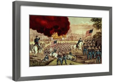 The Capture of Atlanta by the Union Army, 2nd September, 1864-Currier & Ives-Framed Giclee Print