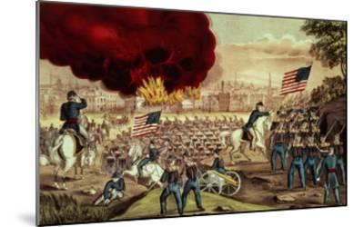 The Capture of Atlanta by the Union Army, 2nd September, 1864-Currier & Ives-Mounted Giclee Print