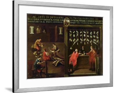 Sign of the Venetian Comb Makers' Guild--Framed Giclee Print