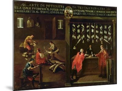 Sign of the Venetian Comb Makers' Guild--Mounted Giclee Print