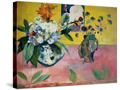 Flowers and a Japanese Print, 1889-Paul Gauguin-Stretched Canvas Print