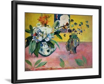Flowers and a Japanese Print, 1889-Paul Gauguin-Framed Giclee Print