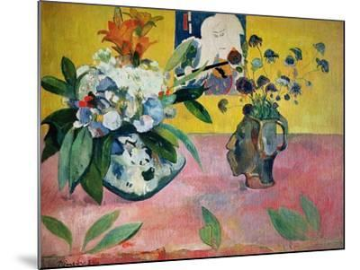 Flowers and a Japanese Print, 1889-Paul Gauguin-Mounted Giclee Print