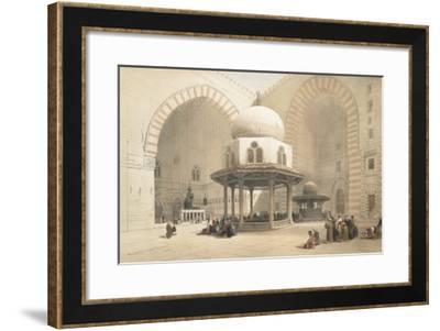 Interior of the Mosque of the Sultan El Ghoree, Cairo, from Egypt and Nubia, Vol.3-David Roberts-Framed Giclee Print