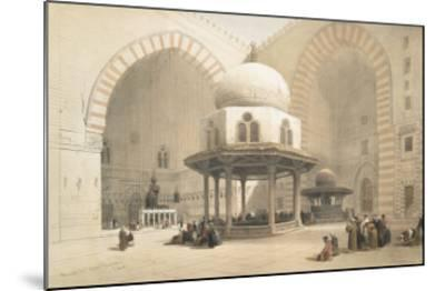 Interior of the Mosque of the Sultan El Ghoree, Cairo, from Egypt and Nubia, Vol.3-David Roberts-Mounted Giclee Print