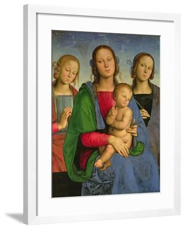 Madonna and Child with St. Catherine and St. Rosa, 1493-Pietro Perugino-Framed Giclee Print