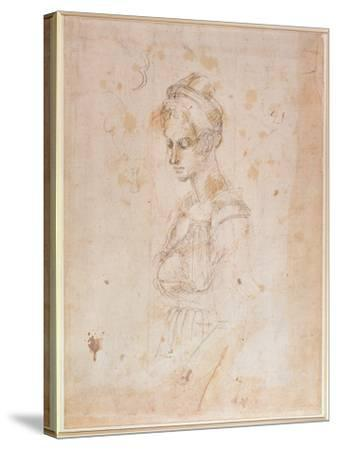 Sketch of a Woman-Michelangelo Buonarroti-Stretched Canvas Print