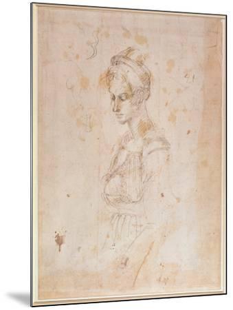 Sketch of a Woman-Michelangelo Buonarroti-Mounted Giclee Print