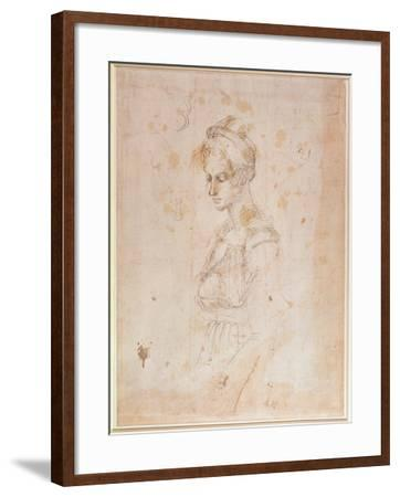 Sketch of a Woman-Michelangelo Buonarroti-Framed Giclee Print