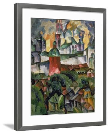 Landscape Near Troize-Sergiev, 1920-Aristarkh Vasilievic Lentulov-Framed Giclee Print
