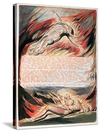 Jerusalem the Emanation of Giant Albion, The Divine Hand Found the Two Limits, Satan and Adam, 1804-William Blake-Stretched Canvas Print