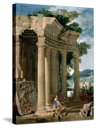 Landscape with Ruins and a Shepherd-Jean Lemaire-Stretched Canvas Print