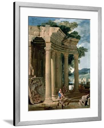 Landscape with Ruins and a Shepherd-Jean Lemaire-Framed Giclee Print