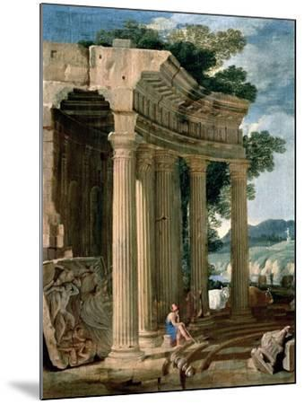 Landscape with Ruins and a Shepherd-Jean Lemaire-Mounted Giclee Print
