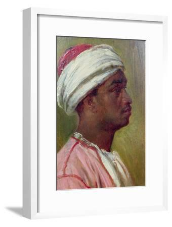 Study of a Nubian Young Man-Frederick Leighton-Framed Giclee Print