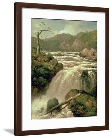 Waterfall on River Neath, South Wales-James Burrell Smith-Framed Giclee Print