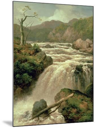 Waterfall on River Neath, South Wales-James Burrell Smith-Mounted Giclee Print