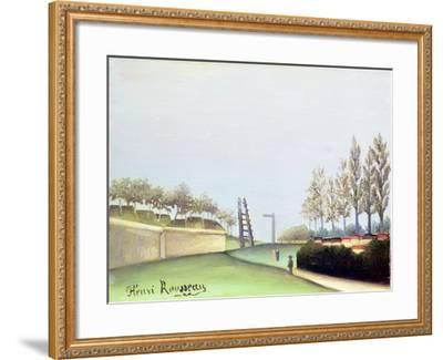 View from the Porte de Vanves, Paris, 1909-Henri Rousseau-Framed Giclee Print