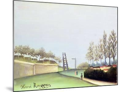View from the Porte de Vanves, Paris, 1909-Henri Rousseau-Mounted Giclee Print