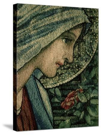 The Virgin's Face, Detail from the Adoration of the Magi, William Morris and Co. Merton Abbey-Burne-Jones & Morris-Stretched Canvas Print