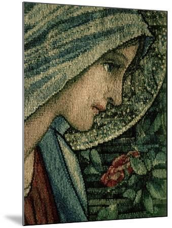 The Virgin's Face, Detail from the Adoration of the Magi, William Morris and Co. Merton Abbey-Burne-Jones & Morris-Mounted Giclee Print