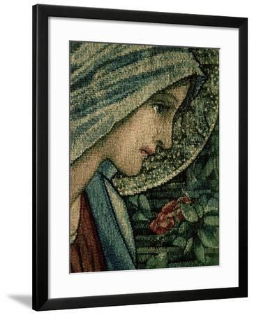 The Virgin's Face, Detail from the Adoration of the Magi, William Morris and Co. Merton Abbey-Burne-Jones & Morris-Framed Giclee Print