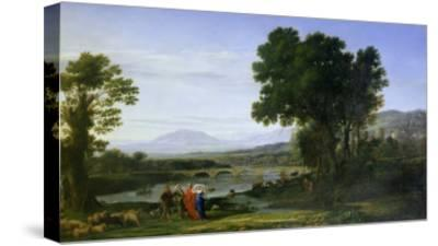 Landscape with Jacob and Laban and Laban's Daughters, 1654-Claude Lorraine-Stretched Canvas Print