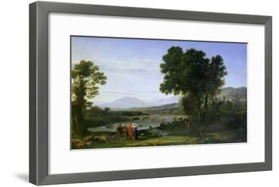 Landscape with Jacob and Laban and Laban's Daughters, 1654-Claude Lorraine-Framed Giclee Print
