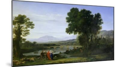 Landscape with Jacob and Laban and Laban's Daughters, 1654-Claude Lorraine-Mounted Giclee Print