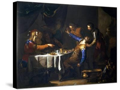 The Murder of Amnon by His Brother Absalom-Bernardo Cavallino-Stretched Canvas Print