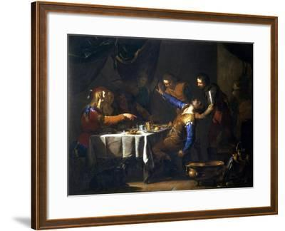 The Murder of Amnon by His Brother Absalom-Bernardo Cavallino-Framed Giclee Print