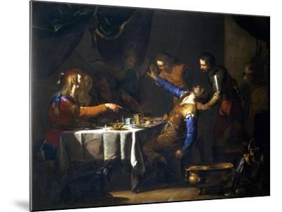 The Murder of Amnon by His Brother Absalom-Bernardo Cavallino-Mounted Giclee Print